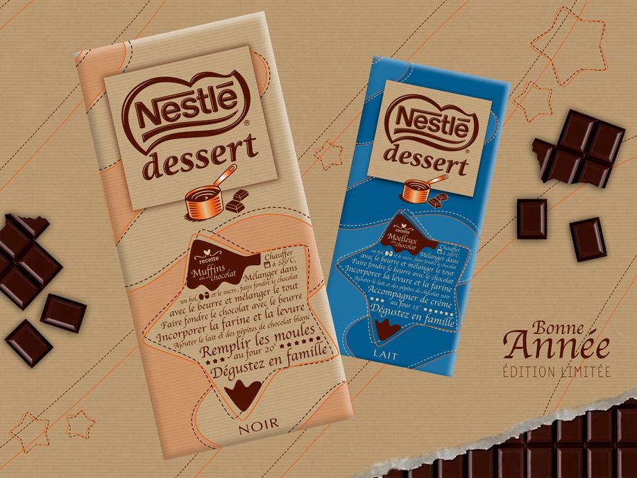 packaging - Nestlé Dessert Noir & Lait - Fêtes de fin d'année